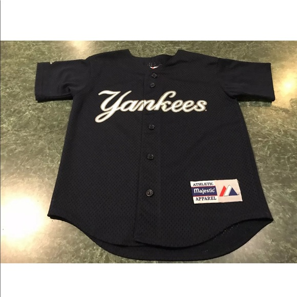 huge discount e3316 8af4c Majestic Derek Jeter NY Yankees Jersey YOUTH Small